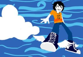PJO Fandomstuck GIF:  Hermes Shoes by Isacax