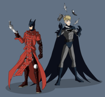 Fibda Cosplay: Batman and Vash by Draegos