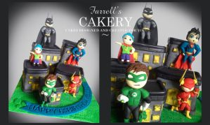 Superhero Cake by FarrellsCakery
