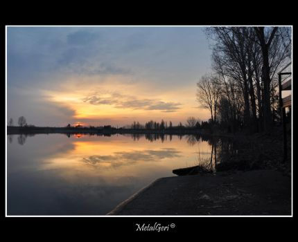 Sunrise at the lake 4 by MetalGeri