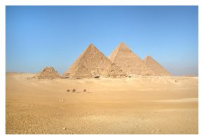 The Great Pyramids Of Giza by xWaleedx