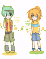 MFB+OC: Clothes change - Kenta+Kyouko by Shichiro-chan