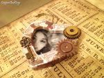 Custom Steampunk hanging photo frame by CopperAndCogs