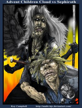 Cloud and Sephiroth by Koy Campbell 150 by NM8R-KJC