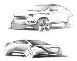 two more car sketches by LoccoRico