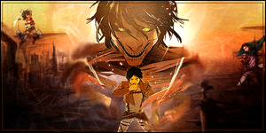 Attack on Titan banner/signature/thing by Veloxity