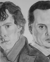 Sherlock vs Moriarty by RainDropAngel