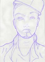 Guy With Fitted by KiaDesignz
