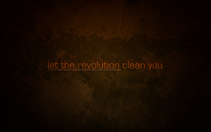let the revolution clean you by LeftSideOfRight
