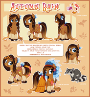 Autumn Rain Reference by Centchi by Potionpony