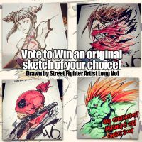 Win a color sketch from Long Vo! by Vostalgic