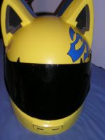 Celty Helmet Progress 4 by AnimeGeer