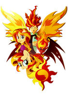 Many forms of Sunset Shimmer by Ilona-the-Sinister