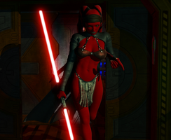 Darth Genossia bringing death by Fembod3d