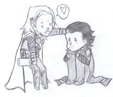 +Thor and Loki+ by KyubiLover