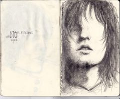 noel fielding with no eyes by like-textas