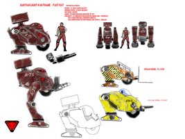 Fast Rat light mecha by Wastelander7