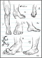 Foot Study by Lt-Frogg