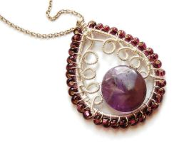 Amethyst indian pendant 2 by OlgaC