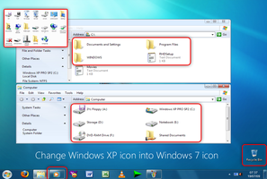 Windows XP icon into Windows 7 by mufflerexoz