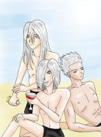 3 silver-haired brothers by nemuitenshi