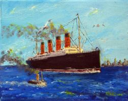 RMS Lusitania, 1909 by rhill555