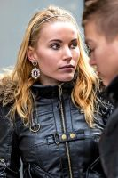 Young woman in leather-jacket - nr 1 in COLOUR by attomanen