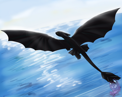 Dragon's flying by Neyla-The-Lioness