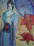 Geisha Weilding an Umbrella by AtsuiChokoreto