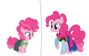 Disney Frozen crossover Pinkie Pie as Anna by Dulcechica19