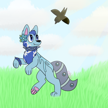 Fly Away (Commission #9) by Vepiz