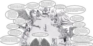 Daedric conference (uncolored) by Spynder4