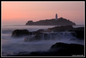 Godrevy Sunset by Kernow-Photography