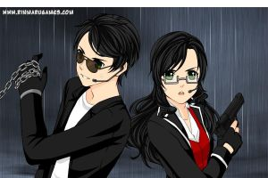 My ocs York dynasty and her nyo (Spy version) by GilbertBielschmidt