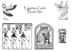 Egyptian Gods Brush Set by PhoenixWildfire