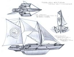 Katana _ Aerial-Aquatic Ship by A-Nessessary-Studio