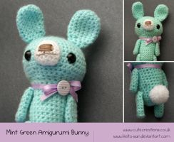 Mint Green Amigurumi Bunny by Keito-San
