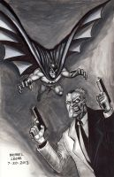 Batman vs Two-Face 7-20-2013 by myconius