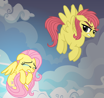 Old Fluttershy and New Fluttershy by StarryOak