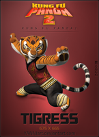 Kung Fu Panda 2 icon Tigress by YANNIArt