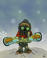 Snowboarder-Enemy Concept by soupcan13