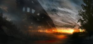 Speed Paint- Sunset by GeorgeLovesyArt
