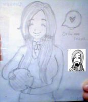 Orihime with Melon Pan by MsPastel