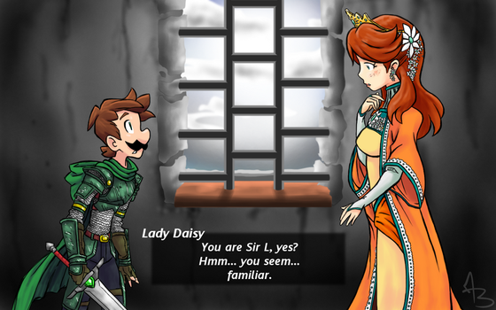 Sir L and Lady Daisy by AmostheArtman