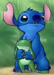 Stitch and Froggy by celesse