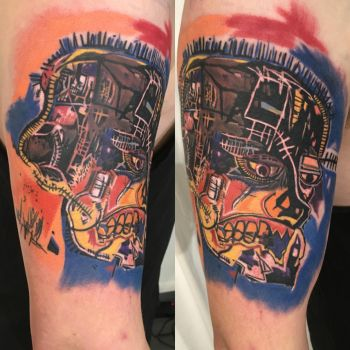 Basquiat, 'The Head' by viptattoo