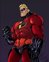Mr. Incredible Clrs by CdubbArt