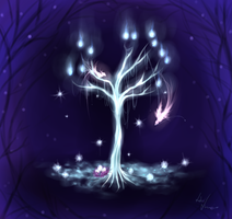 Ice tree by LotusLumino