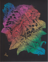 Artfoil butterfly by mosquitone