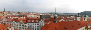 Rooftops of Prague II by MiouQueuing